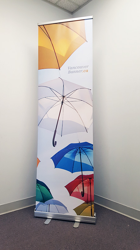 Roll Up Banner Retractable Narrow 23 5 Inch Wide Low Price