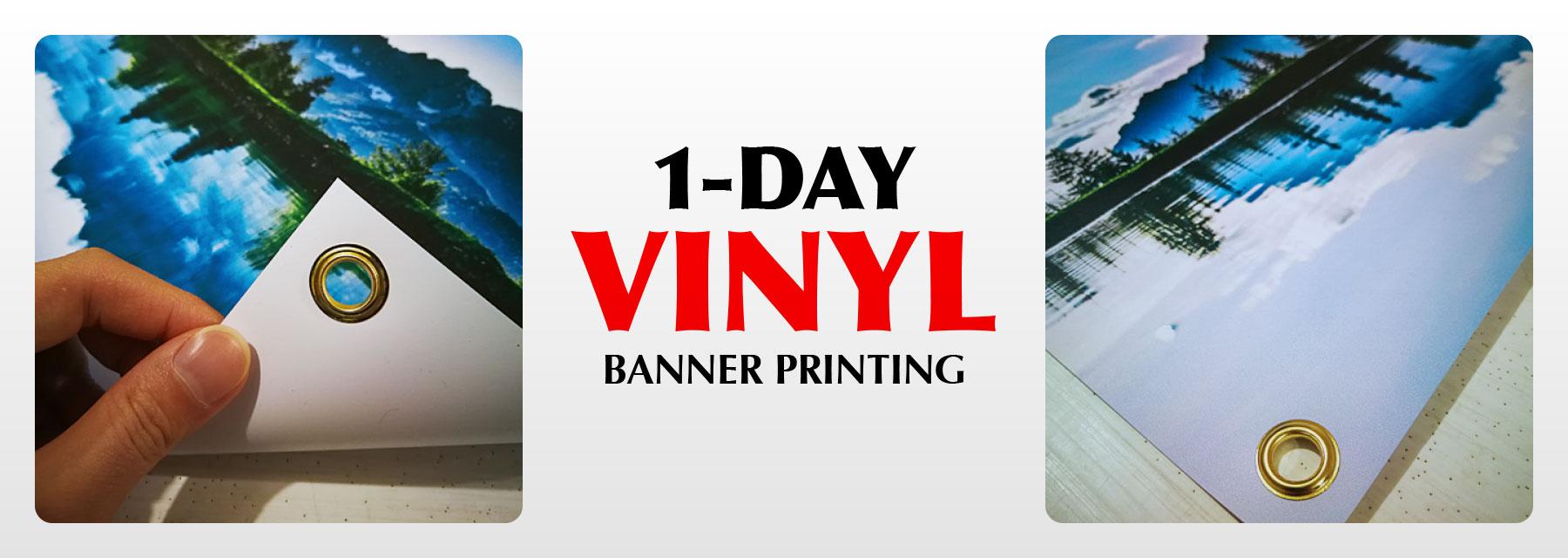 Vinyl Banner Printing Waterproof 1 Day Rush Service Low