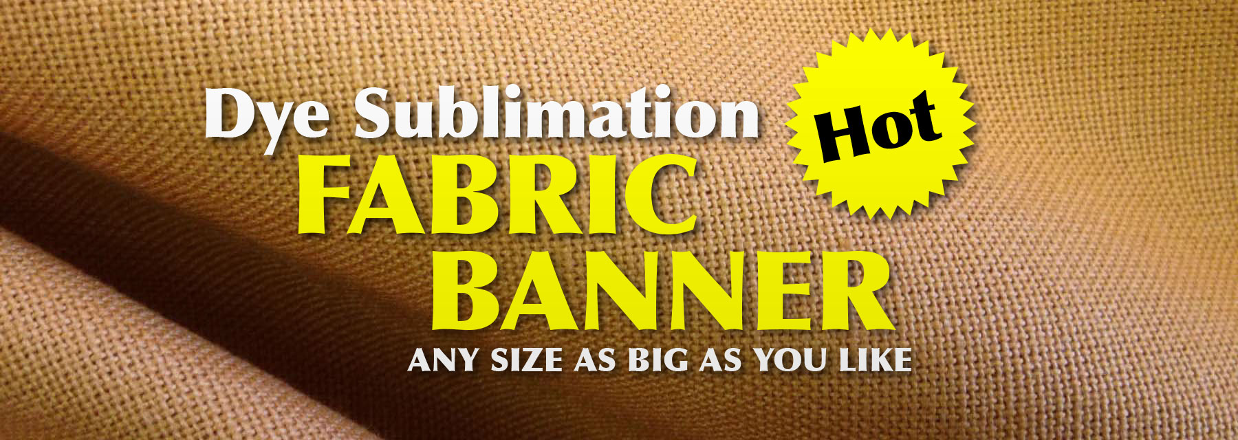 Custom fabric banner & flag printing