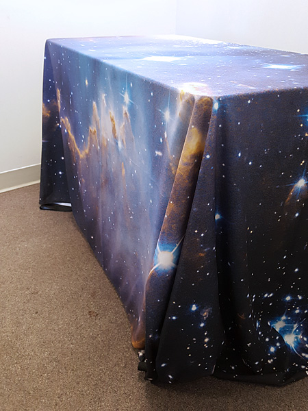 Custom trade show table cover